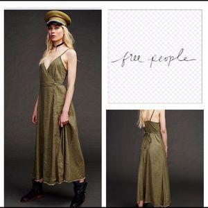 Free People Walk with Me Wrap Maxi Dress 🌿🍃